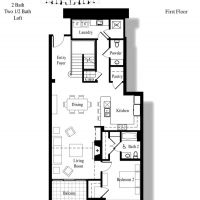 3000 The Plaza - Penthouse Plan 2 First Floor - 2300 sf