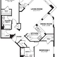 Avenue One - Residence Two B - 1318 sf