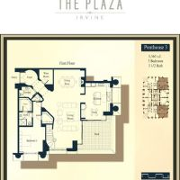 The Plaza Irvine Penthouse Floor Plan 3 First Floor