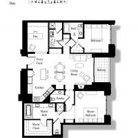 3000 The Plaza - Penthouse Plan 1 - 1660 sf
