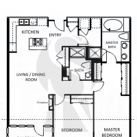 Central Park West - Astoria - Plan G1 - 1426 sf