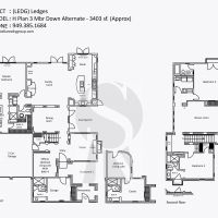 Irvine-Turtle-Ridge-Ledges-H-Plan-3-Mbr-Down-Alternate - 3403 sf
