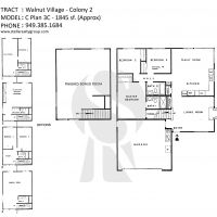 Irvine Walnut Village Colony 2 C Plan 3c - 1845 sf