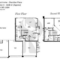 Irvine West Irvine Sheridan Place C Plan 3 - 1638 sf