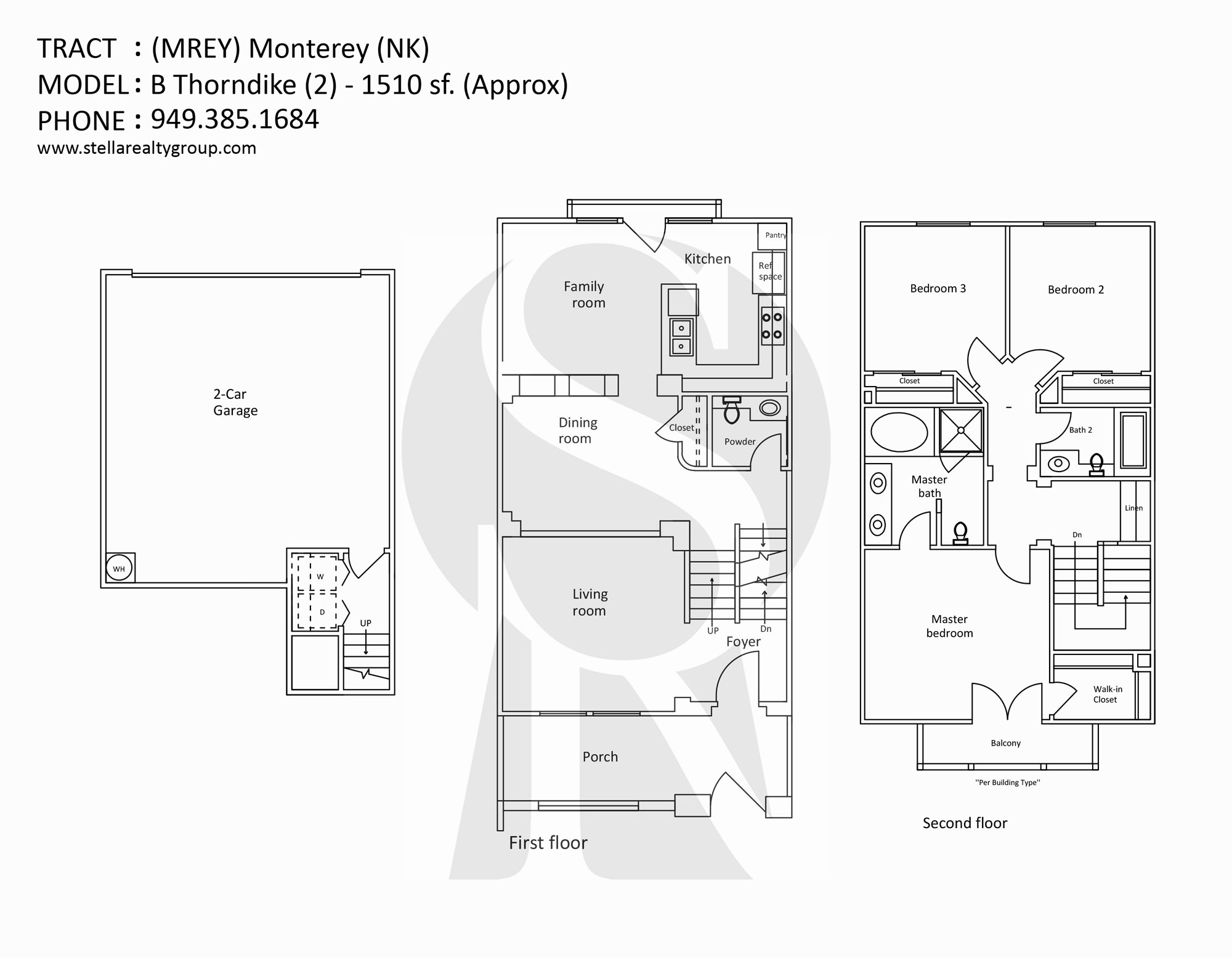 northpark monterey nk b thorndike 2 1510 sf - Deefield Park Homes Floor Plans