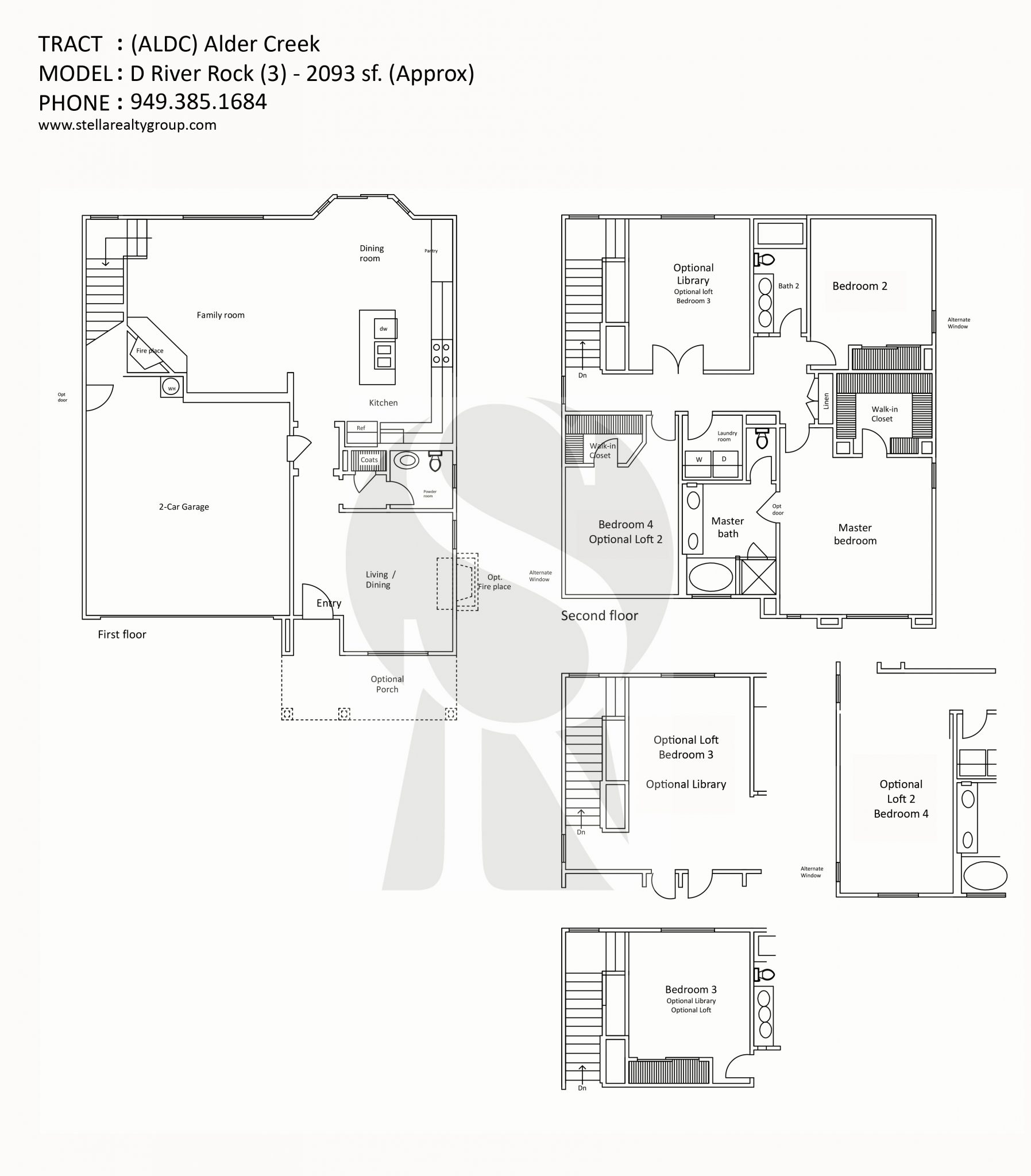 alder creek d river rock 3 2093 sf - Deefield Park Homes Floor Plans